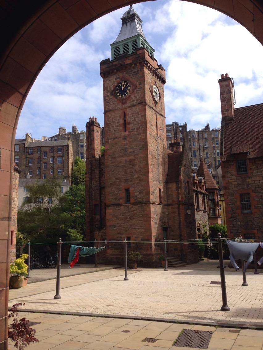 Well Court is the most striking building in Dean Village.