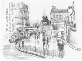 Rain in the City, The Edinburgh Sketcher