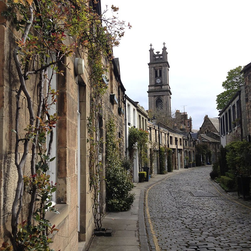Circus Lane is one of Edinburgh's prettiest streets.